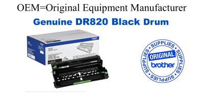 Genuine Brother DR820 Black Drum Cartridge