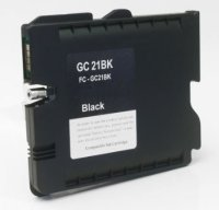 Ricoh GC21Bk Black Remanufactured Ink Cartridge