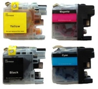 Genuine Brother LC101 4 Color Ink Cartridge Set (BK,C,M,Y)