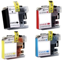 Brother LC103 - 4 Color Ink Cartridge Set, Remanufactured BCMY Combo