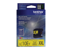 Genuine Brother LC10EY Yellow Ink Cartridge