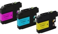 Brother LC205 - Remanufactured 3 Color Ink Catridge Set (Cyan, Magenta, Yellow)