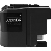 Brother LC209BK Extra High Yield Black Remanufactured Ink Cartridge