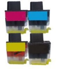 Brother LC41 - Remanufactured 4 Color Ink Catridge Set (Black, Cyan, Magenta, Yellow)