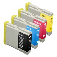 Brother LC51 - Remanufactured 4 Color Ink Catridge Set (Black, Cyan, Magenta, Yellow)