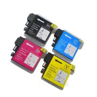 Brother LC61 - 4 Color Ink Cartridge Set, Remanufactured BCMY Combo