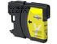 Brother LC65 Yellow Remanufactured Ink Cartridge