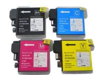 Brother LC65 - 4 Color Ink Cartridge Set, Remanufactured BCMY Combo