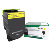 Genuine Lexmark 71B10Y0 Yellow Toner 2,300 Yield