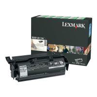 Genuine Lexmark X651A11A Black Return Program Toner Cartridge