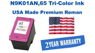 N9K01AN,65 Tri-Color Premium USA Made Remanufactured HP toner