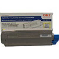 Genuine Okidata 43865717 Yellow Toner Cartridge