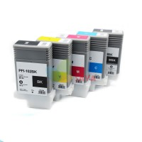 Canon PFI-102 - Remanufactured 4 Color Ink Catridge Set (Black, Cyan, Magenta, Yellow)
