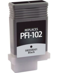 Canon PFI-301Bk Black Remanufactured Ink Cartridge