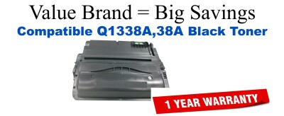 Q1338A,38A Black Compatible Value Brand toner