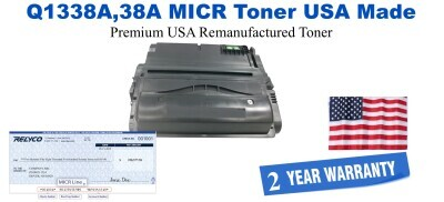 Q1338A,38A MICR USA Made Remanufactured toner