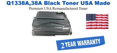 Q1338A,38A Black Premium USA Made Remanufactured HP toner