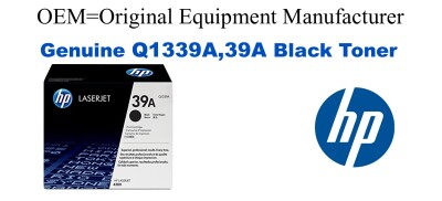 New Original HP 39A Black Toner Cartridge (Q1339A)