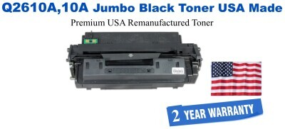 Q2610A,10A Jumbo Premium USA Made Remanufactured HP Toner 50% Higher Yield