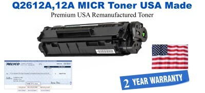 Q2612A,12A MICR USA Made Remanufactured toner