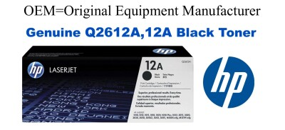 Q2612A,12A Genuine Black HP Toner