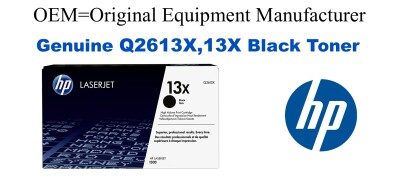 New Original HP 13X Black Toner Cartridge (Q2613X)
