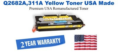 Q2682A,311A Yellow Premium USA Made Remanufactured HP toner