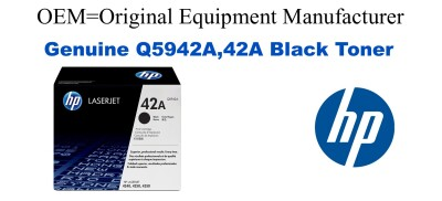 Q5942A,42A Genuine Black HP Toner