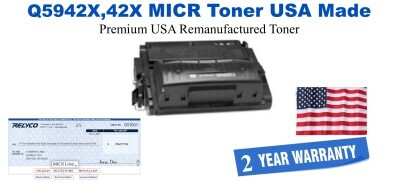 Q5942X,42X MICR USA Made Remanufactured toner