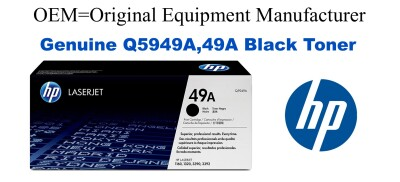 Q5949A,49A Genuine Black HP Toner