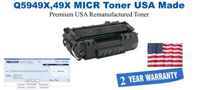 Q5949X,49X MICR USA Made Remanufactured toner