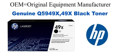 Q5949X,49X Genuine High Yield Black HP Toner