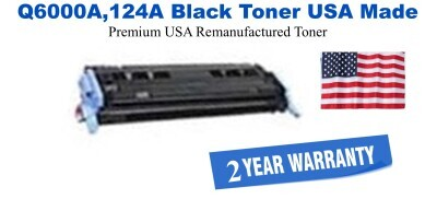Q6000A,124A Black Premium USA Made Remanufactured HP toner