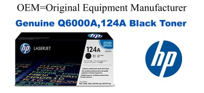Q6000A,124A Genuine Black HP Toner