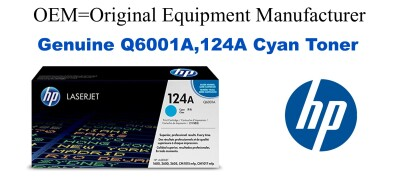 Q6001A,124A Genuine Cyan HP Toner