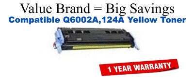 Q6002A,124A Yellow Compatible Value Brand toner