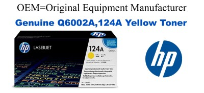 Q6002A,124A Genuine Yellow HP Toner