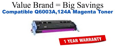 Q6003A,124A Magenta Compatible Value Brand toner