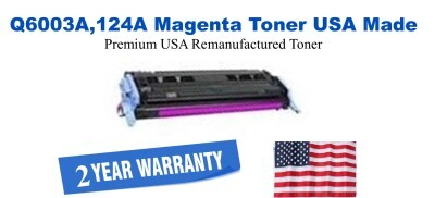 q6003a,124A Magenta Premium USA Made Remanufactured HP toner