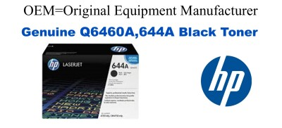 Q6460A,644A Genuine Black HP Toner