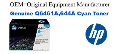 Q6461A,644A Genuine Cyan HP Toner
