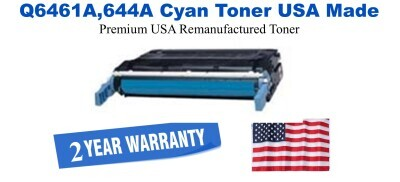 Q6461a,644A Cyan Premium USA Made Remanufactured HP toner