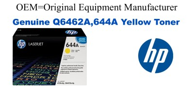 Q6462A,644A Genuine Yellow HP Toner