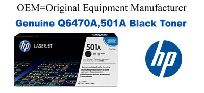Q6470A,501A Genuine Black HP Toner