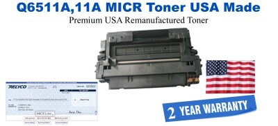 Q6511A,11A MICR USA Made Remanufactured toner