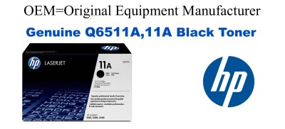 New Original HP 11A Black Toner Cartridge (Q6511A)