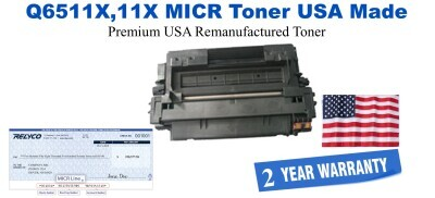 Q6511X,11X MICR USA Made Remanufactured toner