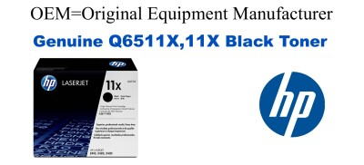 New Original HP 11X Black Toner Cartridge (Q6511X)