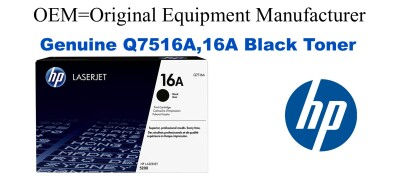 New Original HP 16A Black Toner Cartridge (Q7516A)