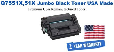 Q7551X,51X Premium USA Made Remanufactured Toner 50% Higher Yield
